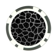 Skin1 Black Marble & Gray Leather (r) Poker Chip Card Guard by trendistuff