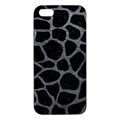 Skin1 Black Marble & Gray Leather (r) Iphone 5s/ Se Premium Hardshell Case by trendistuff