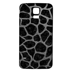 Skin1 Black Marble & Gray Leather (r) Samsung Galaxy S5 Back Case (white) by trendistuff
