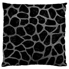 Skin1 Black Marble & Gray Leather (r) Standard Flano Cushion Case (two Sides) by trendistuff