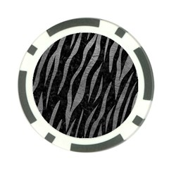 Skin3 Black Marble & Gray Leather Poker Chip Card Guard by trendistuff