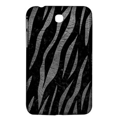 Skin3 Black Marble & Gray Leather Samsung Galaxy Tab 3 (7 ) P3200 Hardshell Case  by trendistuff