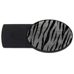 Skin3 Black Marble & Gray Leather (r) Usb Flash Drive Oval (4 Gb)