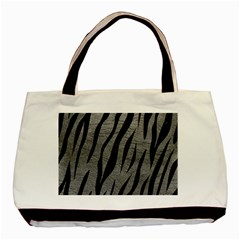 Skin3 Black Marble & Gray Leather (r) Basic Tote Bag by trendistuff