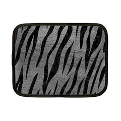 Skin3 Black Marble & Gray Leather (r) Netbook Case (small)  by trendistuff