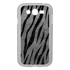 Skin3 Black Marble & Gray Leather (r) Samsung Galaxy Grand Duos I9082 Case (white) by trendistuff