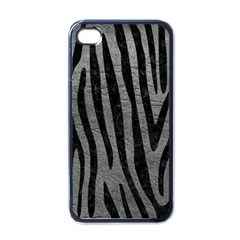Skin4 Black Marble & Gray Leather Apple Iphone 4 Case (black) by trendistuff