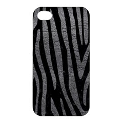 Skin4 Black Marble & Gray Leather (r) Apple Iphone 4/4s Premium Hardshell Case by trendistuff