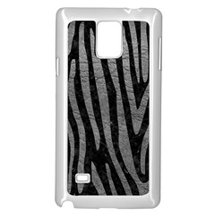Skin4 Black Marble & Gray Leather (r) Samsung Galaxy Note 4 Case (white) by trendistuff