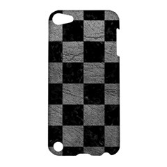 Square1 Black Marble & Gray Leather Apple Ipod Touch 5 Hardshell Case by trendistuff