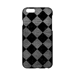 Square2 Black Marble & Gray Leather Apple Iphone 6/6s Hardshell Case by trendistuff