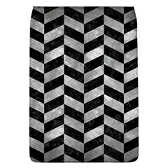 Chevron1 Black Marble & Gray Metal 2 Flap Covers (l)  by trendistuff