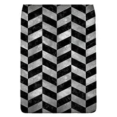 Chevron1 Black Marble & Gray Metal 2 Flap Covers (s)  by trendistuff