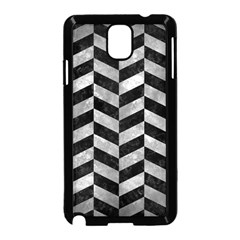Chevron1 Black Marble & Gray Metal 2 Samsung Galaxy Note 3 Neo Hardshell Case (black) by trendistuff