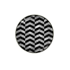 Chevron2 Black Marble & Gray Metal 2 Hat Clip Ball Marker (10 Pack) by trendistuff
