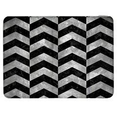 Chevron2 Black Marble & Gray Metal 2 Samsung Galaxy Tab 7  P1000 Flip Case by trendistuff