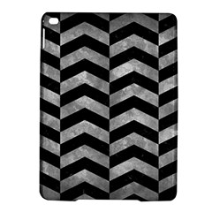 Chevron2 Black Marble & Gray Metal 2 Ipad Air 2 Hardshell Cases by trendistuff