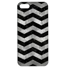 Chevron3 Black Marble & Gray Metal 2 Apple Iphone 5 Hardshell Case With Stand by trendistuff
