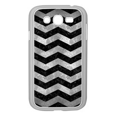 Chevron3 Black Marble & Gray Metal 2 Samsung Galaxy Grand Duos I9082 Case (white) by trendistuff