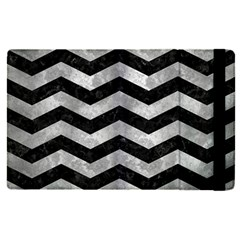 Chevron3 Black Marble & Gray Metal 2 Apple Ipad Pro 12 9   Flip Case by trendistuff