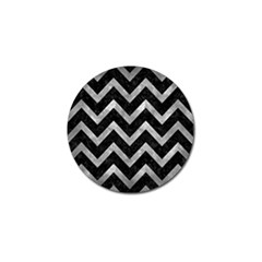 Chevron9 Black Marble & Gray Metal 2 Golf Ball Marker (10 Pack) by trendistuff