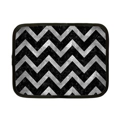 Chevron9 Black Marble & Gray Metal 2 Netbook Case (small)  by trendistuff