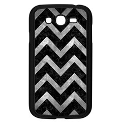 Chevron9 Black Marble & Gray Metal 2 Samsung Galaxy Grand Duos I9082 Case (black) by trendistuff