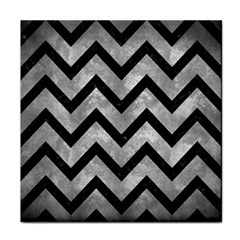 Chevron9 Black Marble & Gray Metal 2 (r) Tile Coasters by trendistuff