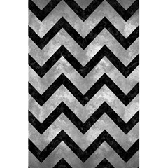 Chevron9 Black Marble & Gray Metal 2 (r) 5 5  X 8 5  Notebooks by trendistuff