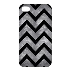 Chevron9 Black Marble & Gray Metal 2 (r) Apple Iphone 4/4s Hardshell Case by trendistuff