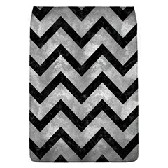 Chevron9 Black Marble & Gray Metal 2 (r) Flap Covers (s)  by trendistuff
