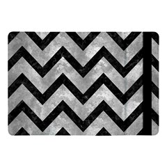Chevron9 Black Marble & Gray Metal 2 (r) Apple Ipad Pro 10 5   Flip Case