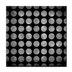 Circles1 Black Marble & Gray Metal 2 Tile Coasters by trendistuff