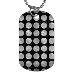 Circles1 Black Marble & Gray Metal 2 Dog Tag (one Side) by trendistuff