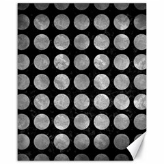 Circles1 Black Marble & Gray Metal 2 Canvas 16  X 20   by trendistuff