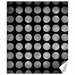 Circles1 Black Marble & Gray Metal 2 Canvas 20  X 24   by trendistuff