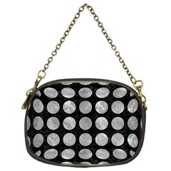 Circles1 Black Marble & Gray Metal 2 Chain Purses (one Side)