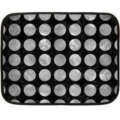 Circles1 Black Marble & Gray Metal 2 Fleece Blanket (mini) by trendistuff
