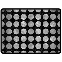 Circles1 Black Marble & Gray Metal 2 Double Sided Fleece Blanket (large)  by trendistuff