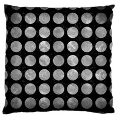 Circles1 Black Marble & Gray Metal 2 Large Flano Cushion Case (two Sides) by trendistuff