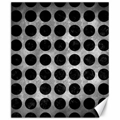 Circles1 Black Marble & Gray Metal 2 (r) Canvas 20  X 24   by trendistuff