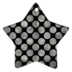 Circles2 Black Marble & Gray Metal 2 Star Ornament (two Sides) by trendistuff