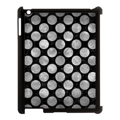 Circles2 Black Marble & Gray Metal 2 Apple Ipad 3/4 Case (black) by trendistuff