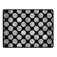 Circles2 Black Marble & Gray Metal 2 Double Sided Fleece Blanket (small)  by trendistuff