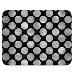 Circles2 Black Marble & Gray Metal 2 Double Sided Flano Blanket (medium)  by trendistuff