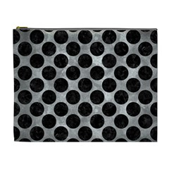 Circles2 Black Marble & Gray Metal 2 (r) Cosmetic Bag (xl) by trendistuff