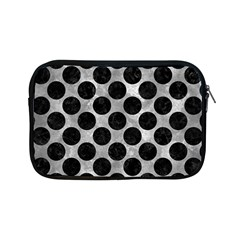 Circles2 Black Marble & Gray Metal 2 (r) Apple Ipad Mini Zipper Cases by trendistuff