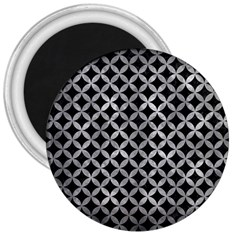 Circles3 Black Marble & Gray Metal 2 3  Magnets by trendistuff