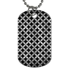 Circles3 Black Marble & Gray Metal 2 Dog Tag (one Side) by trendistuff