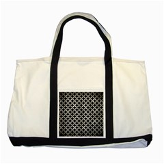Circles3 Black Marble & Gray Metal 2 Two Tone Tote Bag by trendistuff